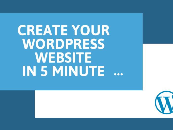 Create A WordPress Website In 5 Minute