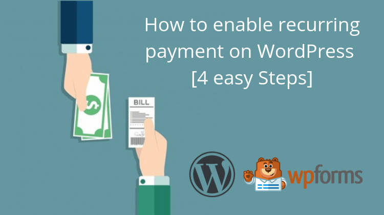 how to enable payments on wordpress forms