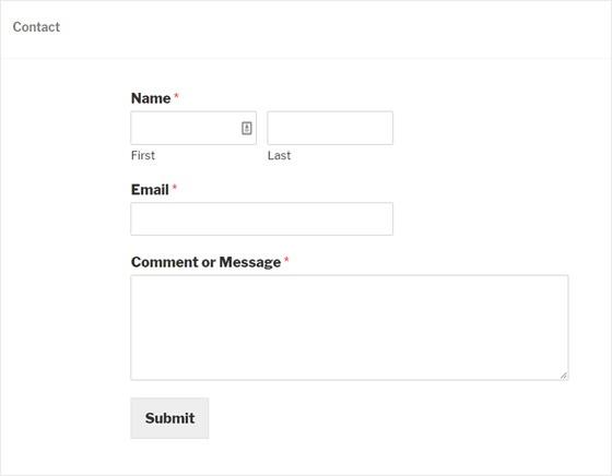 wpforms contact form