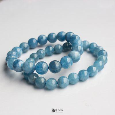 vòng tay phong thủy - Vòng đá aquamarine
