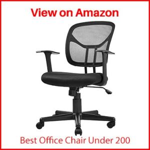 AmazonBasics Mesh, Mid-Back, Adjustable, Swivel Office Desk Chair