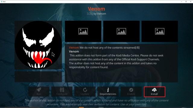 Step 23 Installing Venom Kodi addon on Kodi