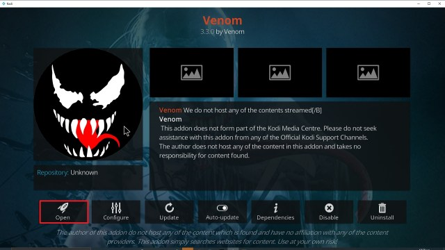 Step 26 Installing Venom Kodi addon on Kodi