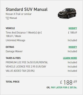 enterprise car rental price uk
