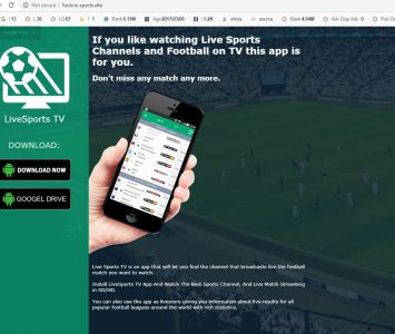 Live Sports TV Website Image