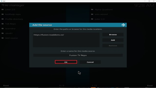 Step 14 Installing fusion addon on Kodi