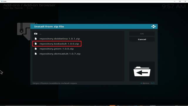 Step 20 Installing fusion addon on Kodi
