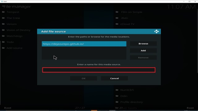 Step 11 Installing Deja Vu addon on Kodi