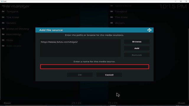 Step 11 Installing Sport's Devil addon on Kodi