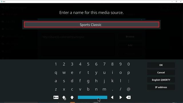 Step 12 Installing Sports Classic Kodi