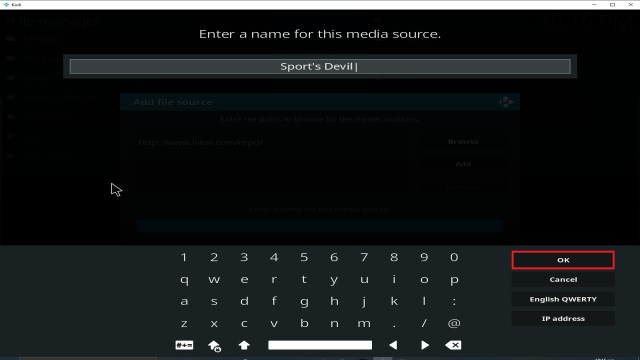 Step 13 Installing Sport's Devil addon on Kodi