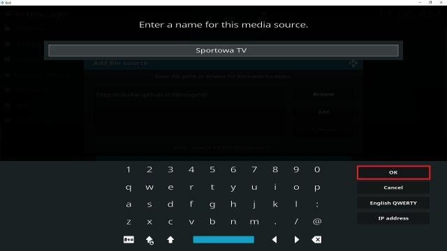 Step 13 Installing Sportowa TV addon on Kodi