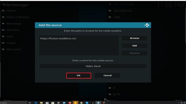 Step 14 Installing Video Devil Kodi addon on Kodi