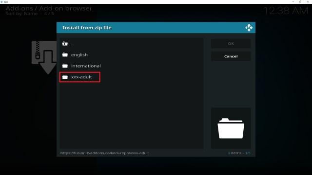 Step 19 Installing Empflix Kodi addon on Kodi