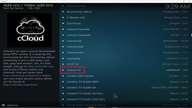 Step 22 Installing cCloud TV addon on Kodi