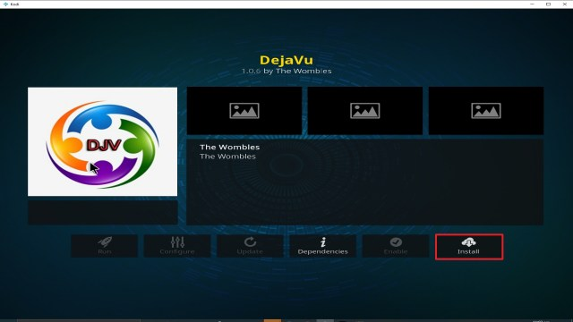 Step 23 Installing Deja Vu addon on Kodi