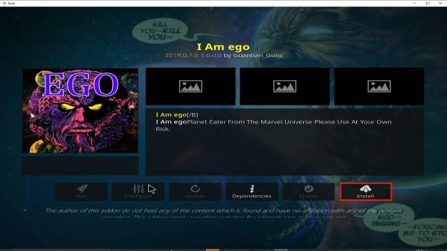 Step 23 Installing I Am Ego addon on Kodi