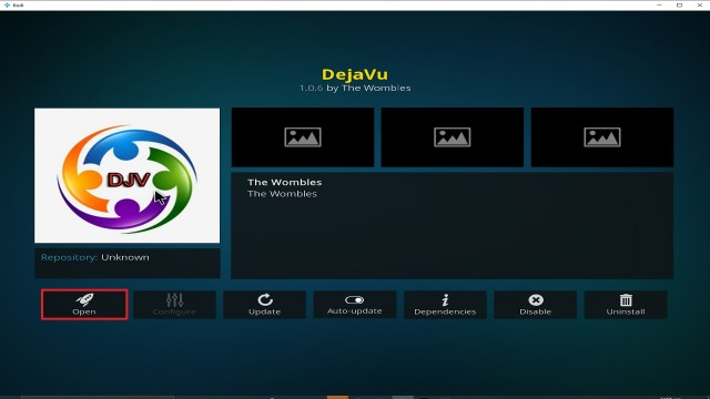 Step 26 Installing Deja Vu addon on Kodi