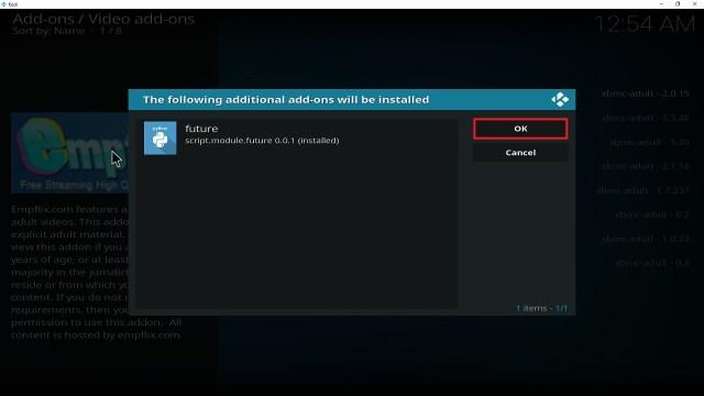 Step 27 Installing Empflix Kodi addon on Kodi