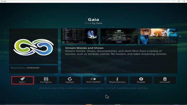 Step 27 Installing Gaia addon on Kodi