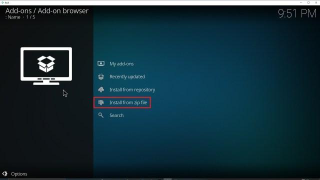 Step 16 Installing TempTV Kodi addon on Kodi