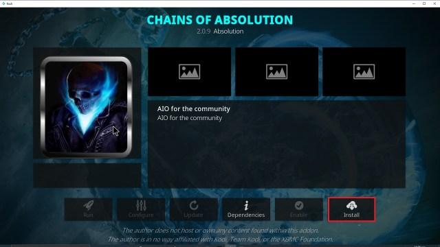 Step 23 Installing Chains of Absolution Kodi addon on Kodi
