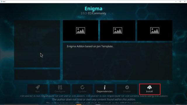 Step 23 Installing Enigma Kodi addon on Kodi