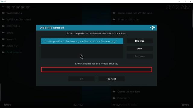 Step 11 Installing Fusion Org addon on Kodi
