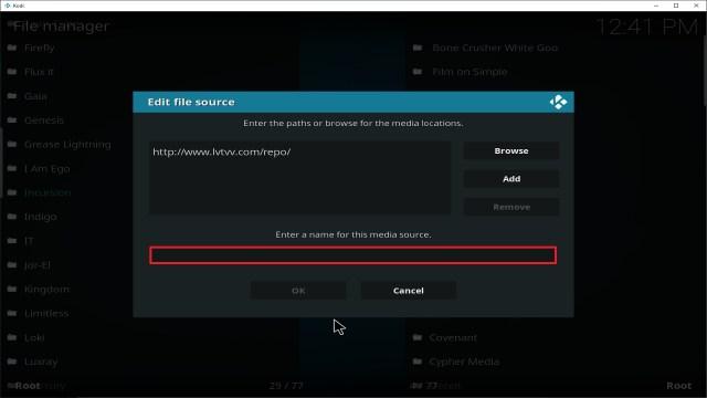 Step 11 Installing Incursion addon on Kodi
