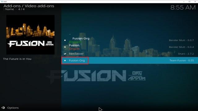 Step 22 Installing Fusion Org addon on Kodi