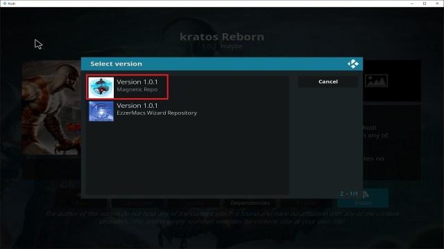 Step 24 Installing Kratos Reborn addon on Kodi