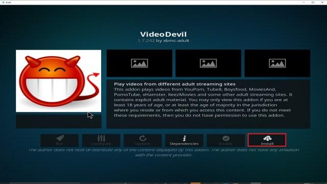 Step 25 Installing Video Devil Kodi addon on Kodi