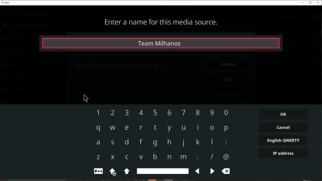 Step 12 Installing Team Milhanos addon on Kodi