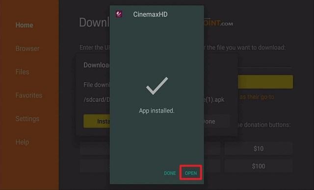 Step 14 Install Cinemaxhd on Firestick