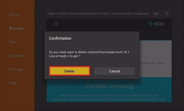Step 17 Download Kodi On Your Firestick via Downloader App
