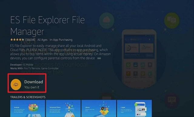 Step 7 Download Kodi Using ES File Explorer