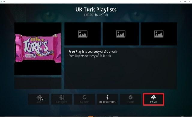 Step 23 Install UK Turk Playlist on kodi