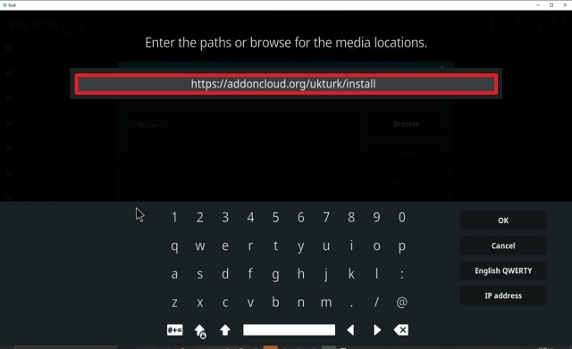Step 8 Install UK Turk Playlist on kodi