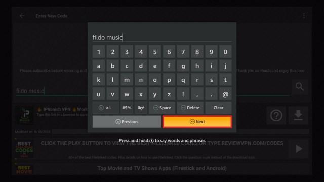 Step 17 Install Fildo Music