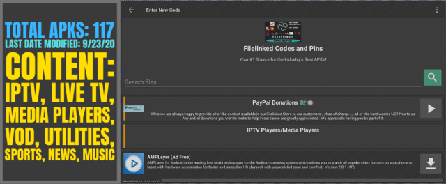 FILELINKED CODES AND PINS