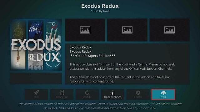 Step 22 Install Exodus Redux
