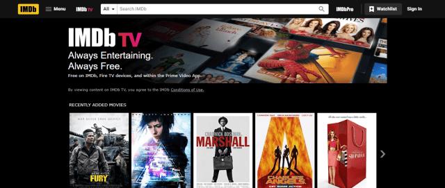 IMDb TV Screenshot