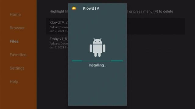 Install Klowdtv on Firestick Step 17