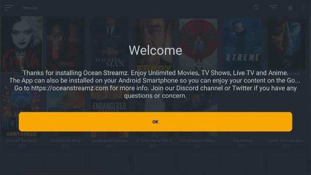 Install Oceanstreamz App on Firestick Step 20