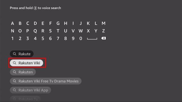 Install Rakuten Viki App on Firestick Step 4