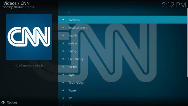 Install the CNN Kodi Addon Step 12