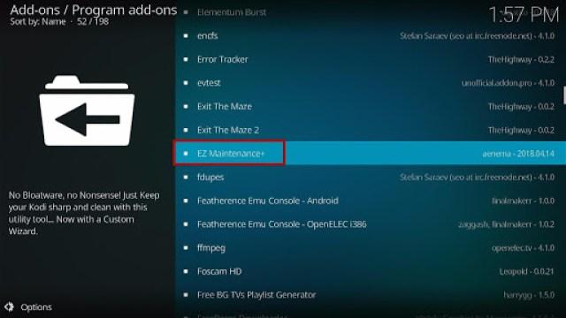 Install the EZ Maintenance+ Kodi Addon Step 1