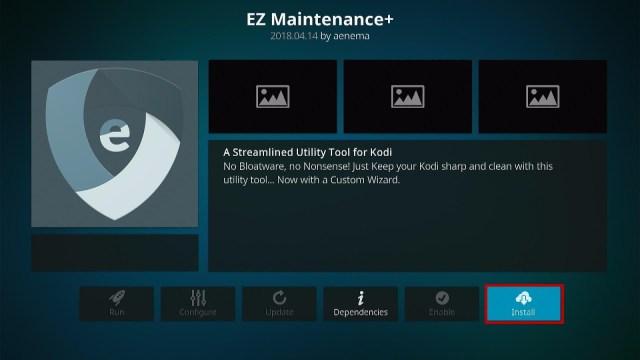 Install the EZ Maintenance+ Kodi Addon Step 2