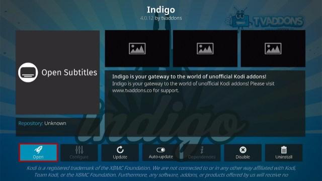 Install the Fresh Start Kodi Addon Step 4