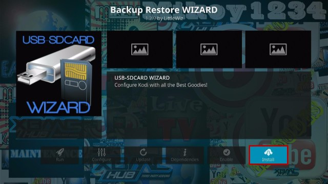 Install the USB-SDCard Wizard Step 2